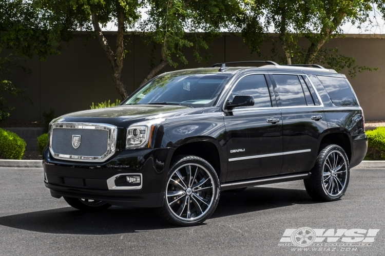 2016 Gmc Yukon Denali With 24 Asanti Vf 604 In Black Machined Wheels