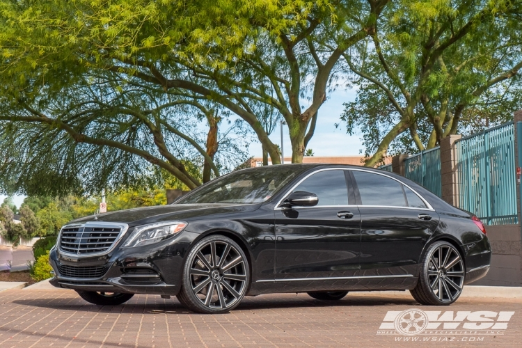 2017 Mercedes Benz S Cl With 22 Gianelle Santoneo In Matte Black
